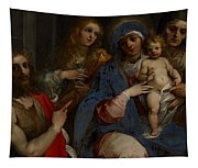Madonna And Child With Saints John The Baptist With Mary Magdalene And Anne Tapestry