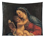 Madonna With The Child Tapestry