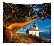 Madrone And Lighthouse Tapestry