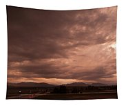 Magenta Clouds Tapestry