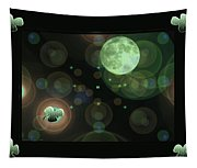 Magical Moonlight Clover Tapestry