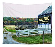 Mail Pouch Tobacco Barn In The Fall Tapestry