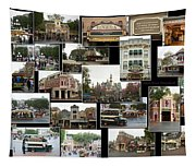 Main Street Disneyland Collage 02 Tapestry