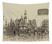 Main Street Sleeping Beauty Castle Disneyland Heirloom 03 Tapestry