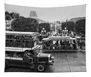 Main Street Transportation Disneyland Bw Tapestry