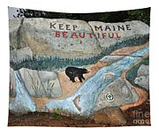 Maine Rock Painting Tapestry
