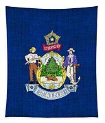 Maine State Flag Tapestry by Pixel Chimp