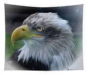 Majestic Eagle Of The Usa - Featured In Feathers And Beaks-comfortable Art And Nature Groups Tapestry