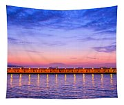 Malaga Pink And Blue Sunrise  Tapestry