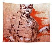 Malawi Child Sketch Tapestry
