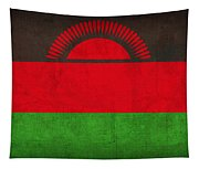 Malawi Flag Vintage Distressed Finish Tapestry