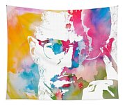 Malcolm X Watercolor Tapestry