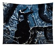 Maleficent In Winter's Woods Tapestry