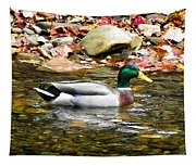Mallard Duck In The River Tapestry