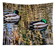Mallards In The Reeds Tapestry