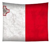 Malta Flag Vintage Distressed Finish Tapestry
