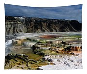 Mammoth Hot Springs Tapestry