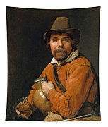Man Holding A Jug Tapestry