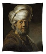 Man In Oriental Dress Tapestry