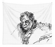 Man In The Corner Tapestry