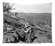Man Mining Ore Tapestry