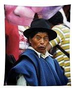 Man Of Cotacachi Ecuador Tapestry