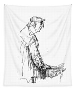 Man Standing Tapestry