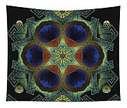 Mandala Peacock  Tapestry