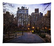 Manhattan At Dusk Tapestry