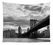 Manhattan Bridge In Bw Tapestry