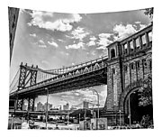 Manhattan Bridge - Pike And Cherry Streets Tapestry