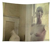 Mannequin In The Window Tapestry