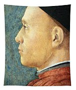 Mantegna's Portrait Of A Man Tapestry