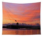 Mantoloking Bridge At Dawn Tapestry