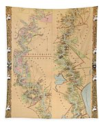 Map Depicting Plantations On The Mississippi River From Natchez To New Orleans Tapestry