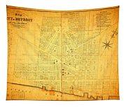 Map Of Detroit Michigan C 1835 Tapestry