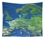 Map Of Europe Tapestry