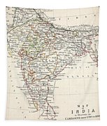 Map Of India Tapestry