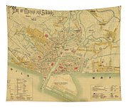 Map Of Manila 1899 Tapestry