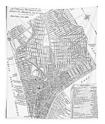 Map Of New York City, 1803 Tapestry