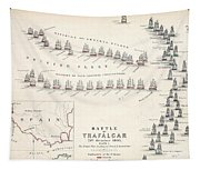 Map Of The Battle Of Trafalgar Tapestry