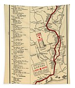 Map Of The Lone Star Route 1922 Tapestry