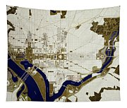 Map Of Washington D.c. Tapestry