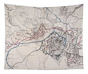 Map: Siege Of Atlanta 1864 Tapestry