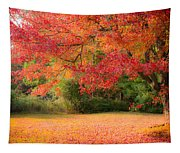 Maple In Red And Orange Tapestry