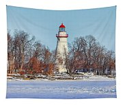 Marblehead Lighthouse In Winter Tapestry