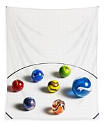 Marbles Circle 3 Tapestry