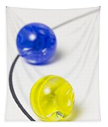 Marbles Yellow Blue Curve 1 Tapestry