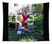 Mardi Gras Scarecrow At Bellingrath Gardens Tapestry