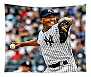 Mariano Rivera Painting Tapestry